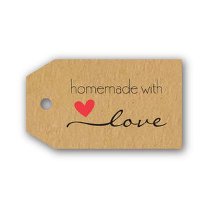 Other - 500 hang tag shaped homemade with love stickers
